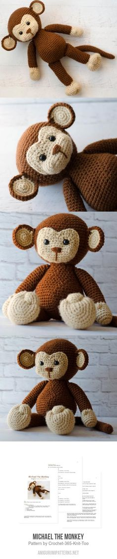 Michael The Monkey Amigurumi Pattern