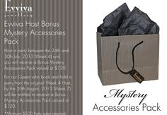 Deals now on with Evviva's Mystery accessories Pack. Pm me to book in before this exclusive deal ends. Visit my Facebook page to view some more specials. https://www.facebook.com/EvvivaDiva?ref=tn_tnmn