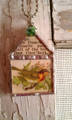 Bird house soldered charm w/ ball chain included. find chains: http://www.ecrafty.com/c-65-necklaces-cords-chains.aspx