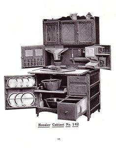Now THAT's storage! Antique Hoosier cabinet.