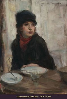 American artist Ron Hicks works have been characterized as a blend of representational art and impressionism  | AfternoonAtTheCafe