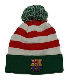 456f2e6834b90 Fc Barcelona Beanie Christmas Pom Pom Skull Cap Hat Santa Hat Review