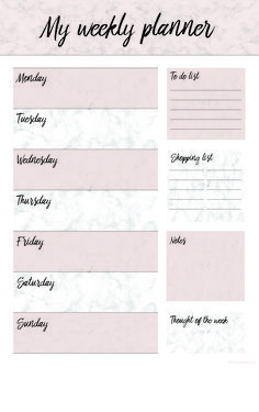A free printable weekly planner for an organized new year :)  #free #printable #weekly #planner