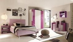 Fantastisch Schlafzimmer Weiß / Lila Hochglanz Lack Italien Colorativi23