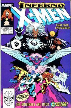 Uncanny X-Men 242 Marvel 1989 NM Wolverine Cyclops X-Factor Psylocke Inferno Marvel Comics, Hq Marvel, Marvel Girls, Marvel Comic Books, Comic Books Art, Marvel Characters, X Men, Psylocke, Book Cover Art