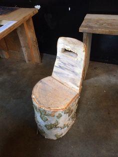 Boomstam stoeltje