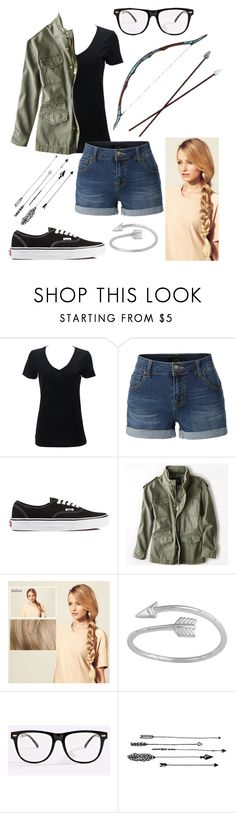 """""""I Don't Wear Bows, I Shoot With Them"""" by emmy-awards ❤ liked on Polyvore featuring Simplex Apparel, LE3NO, Vans, American Eagle Outfitters, Bow & Arrow, Hershesons, Midsummer Star and Forever 21"""