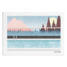 Hey, I found this really awesome Etsy listing at https://www.etsy.com/uk/listing/250232244/by-the-pool-a4-or-a3-artists-print