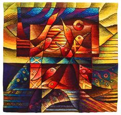 Handwoven Peruvian Tapestry, Birds, Tapestry Art, Wall Hanging, Alpaca Fiber, Tapestries by Maximo Laura, Handmade, Peru Textiles