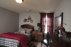 Regency Homebuilders : Kids Bedroom, Motorcycle, Boy Bedroom {Hidden Springs Subdivision - Montgomery Plan}