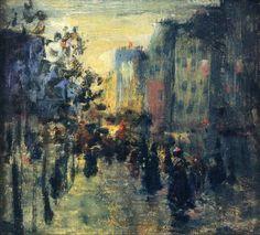 Misty Effect, Paris, Robert Henri. American Ashcan School Painter (1865 - 1929)