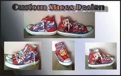 smurfs custom shoes