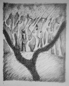 - In The woods -  #art #drawing #illustration