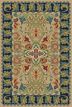 Redcar area rug designed by William Morris -- GuildCraft Carpets, $44/sq. ft.