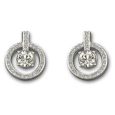 Swarovski Lavender Pierced Earrings In Silver Crystal