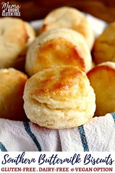 An easy gluten-free biscuits recipe made Southern style with buttermilk. Flaky and tender. With a dairy-free option. An easy gluten-free biscuits recipe made Southern style with buttermilk. Flaky and tender. With a dairy-free option. Dairy Free Biscuits, Vegan Biscuits, Milk Free Biscuit Recipe, Gluten Free Buttermilk Biscuits Recipe, Recipe For Homemade Biscuits, Flakey Biscuits, Almond Flour Biscuits, Healthy Biscuits, Buttermilk Pancakes