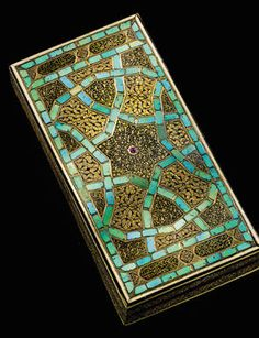 Ottoman Turquoise Inlaid Box set with Rubies, Turkey, Early 16th Century