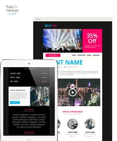 Event/Party Email Template PSD email by KalaAndHansujaStudio