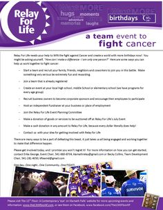 Relay For Life Ad Follow Us On Twitter Of Vinings