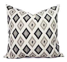 Two Black Pillow Covers  Black Diamond by CastawayCoveDecor