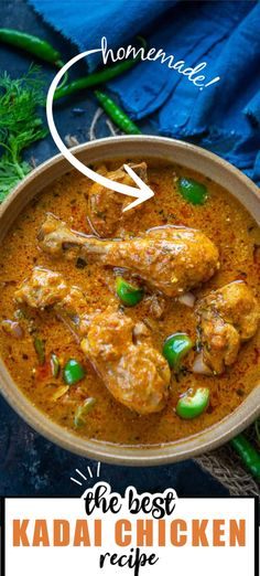 Kadai Chicken is a delicious Indian chicken curry where chicken is cooked with freshly ground spices. This spicy curry goes well with naan or any other Indian bread. Here is how to make it. Chicken Recipes, Indian Chicken, Indian Curry, Naan, Curry Recipes, Spicy, Veggies, Cooking, Kochen
