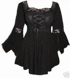 I found 'Corset Raven Top Gothic Medieval Long Stretchy Halloween Witch Fancy Dress Costume Party Sizes 8-24' on Wish, check it out!