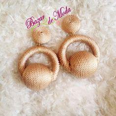 Rope Jewelry, Diy Jewelry, Jewelry Making, Silk Thread Bangles, Thread Jewellery, Feather Earrings, Tassel Earrings, Craft Work, Hand Embroidery