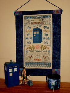 Sampler in Time  Doctor Who  Inspired Cross by CrownStreetCottage, $10.00