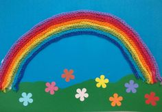 virkattu sateenkaari crochet rainbow