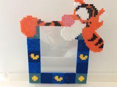 Tigger photo frame hama beads by mon-babylou