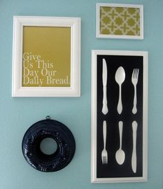Love this idea for a kitchen or dining room or a breakfast nook.