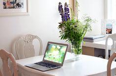 macbook and white
