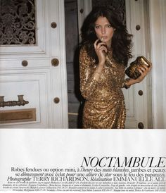 "<p>After the Daria kick ass editorial, here is  Daria Werbowy as a Night crawler in ""Noctambule"" shot by Terry Richardson for Vogue Paris (May 07) – Art Direction: Emmanuelle Alt</p>"