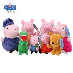 Genuine Peppa Pig family Plush Toys Peppa George Pig Family Toys For Children Hobbies Dolls & Stuffed Plush Toys New Year Gifts George Pig, Peluche Peppa Pig, Peppa Pig Familie, Baby Toys, Kids Toys, Pig Family, Pet Pigs, Childrens Gifts, Plushies