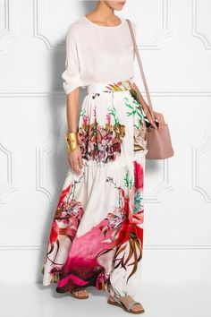 Modest Ruffled Maxi Skirt