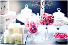glam coco chanel baby shower