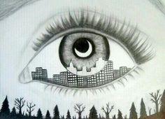 City in an eye