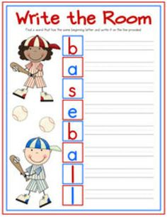 """""""Let's Play Baseball!"""" includes over 100 pages of Common Core-aligned and baseball-themed reading, writing, and math materials, games, and centers for kindergarten and first grade classrooms! This pack also has reading lesson ideas and materials to match the books Hit the Ball, Duck! and Bats at the Ballgame. Skills covered in this bundle include true and false, compare and contrast, multiple meaning words, punctuation, sight words, tally marks and graphing, addition and subtraction, and…"""
