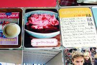 Project Life Layout mit den neuen Klartext-Stempeln Guten Appetit & Mini-Stempeln von Barbara Haane für www.danipeuss.de