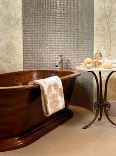 Pool House & Wine Cellar - modern - bathroom - nashville - by Beckwith Interiors House Design, Wine Cellar Modern, Wooden Bathtub, House Interior, Modern Bathroom, Modern Tub, Amazing Bathrooms, Wood Tub, Stand Alone Tub