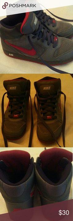 Ladies sneakers Nike Air ladies hi-top sneakers like new worn only a few times. Size 8. Nike Shoes Sneakers
