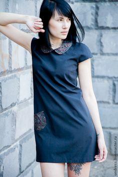 "Летнее платье ""Black vintage"". Handmade."