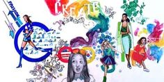Designer Doodle by a middle school artist for the doodle4google contest.
