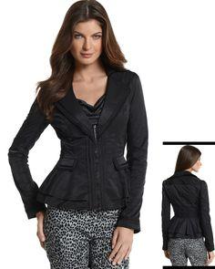 WHITE HOUSE BLACK MARKET - PONTE/MIX FABRIC ZIP-FRONT JACKET   STYLE: 570053375 - http://www.whitehouseblackmarket.com/store/browse/product.jsp?maxRec=12=1=570053375==PonteMix+Fabric+ZipFront+Jacket=====4=cat210004=Jackets===1=
