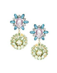 ASOS Double Flower Drop Earring