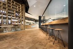 pano brot & kaffee in stuttgart designed by DIA - dittel architekten Cafe Interior Design, Commercial Interior Design, Cafe Design, Commercial Interiors, Interior Decorating, Interior Ideas, Cafe Bar, Cafe Restaurant, Restaurant Design