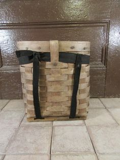 Small adirondack pack basket with carrying straps- basket is solid and in good condition, fully functional by HeathersCollectibles on Etsy