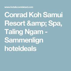 Conrad Koh Samui Resort & Spa, Taling Ngam - Sammenlign hoteldeals