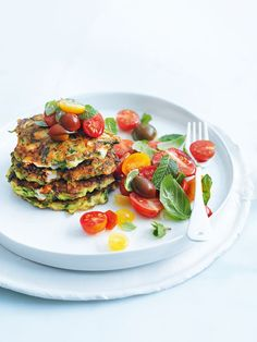 zucchini and feta fritters | Donna Hay