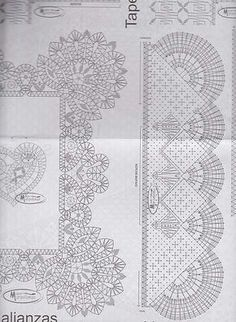 одноклассники Crochet Lace Edging, Crochet Borders, Crochet Diagram, Crochet Doilies, Bobbin Lace Patterns, Crochet Patterns, Art Nouveau Pattern, Bobbin Lacemaking, Point Lace